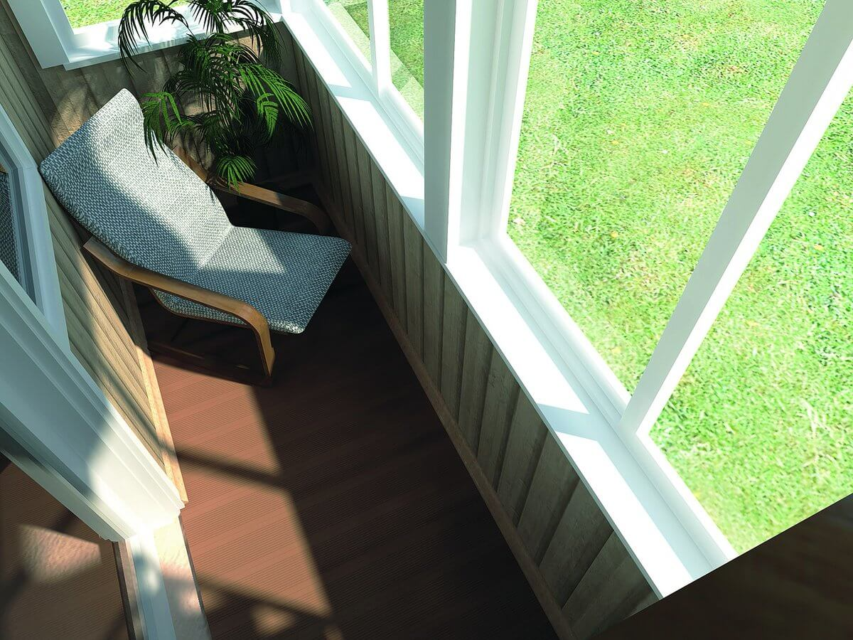 балкон из термодерева